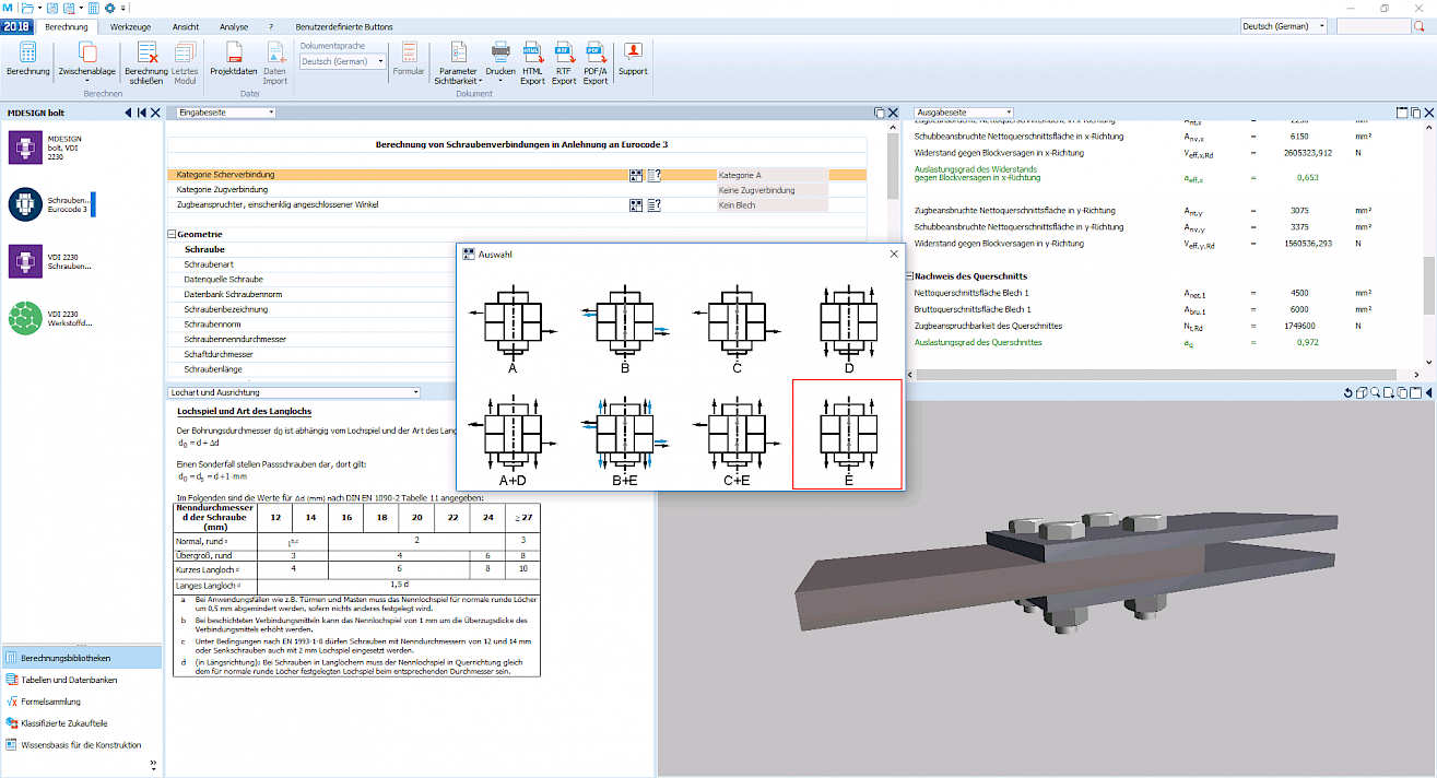 Calculation of bolts according to VDI 2230 - MDESIGN bolt